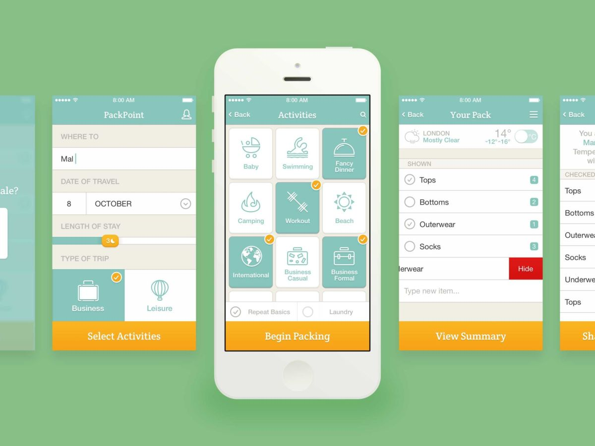 Best Travel Apps | Packpoint