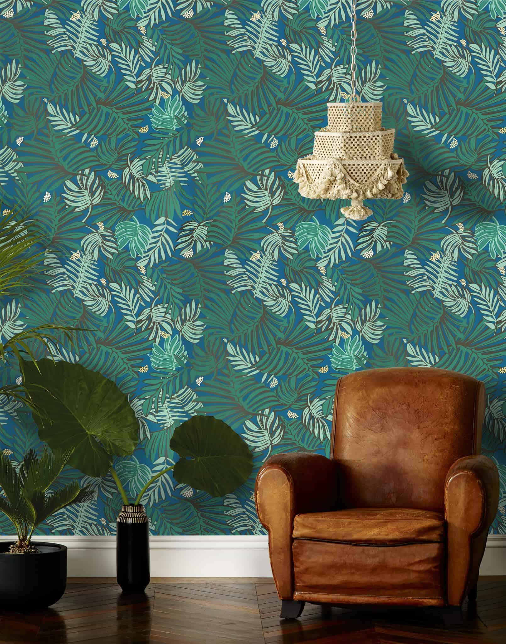 Palm Leaf Print Wallpaper   Justina Blakeney   Hygge & West