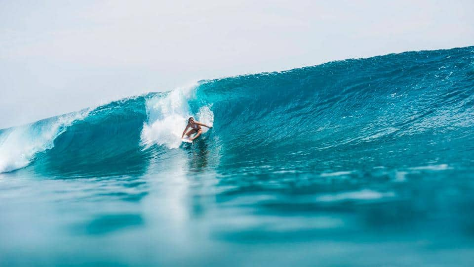 tyler wright surfing / rip curl / Chic Surf Bikinis That Stay On In The Waves