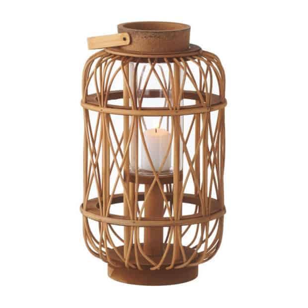rattan lantern / beach house style