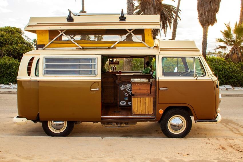 camper van rental california