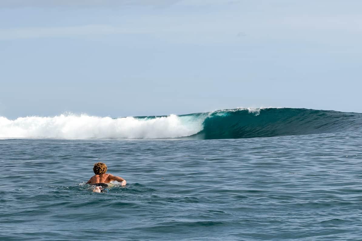 Surfing Samoa