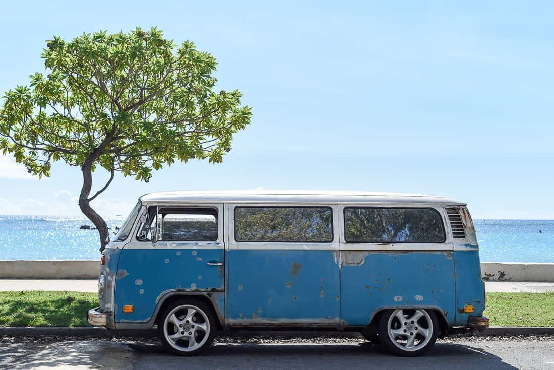 VW bus on the beach