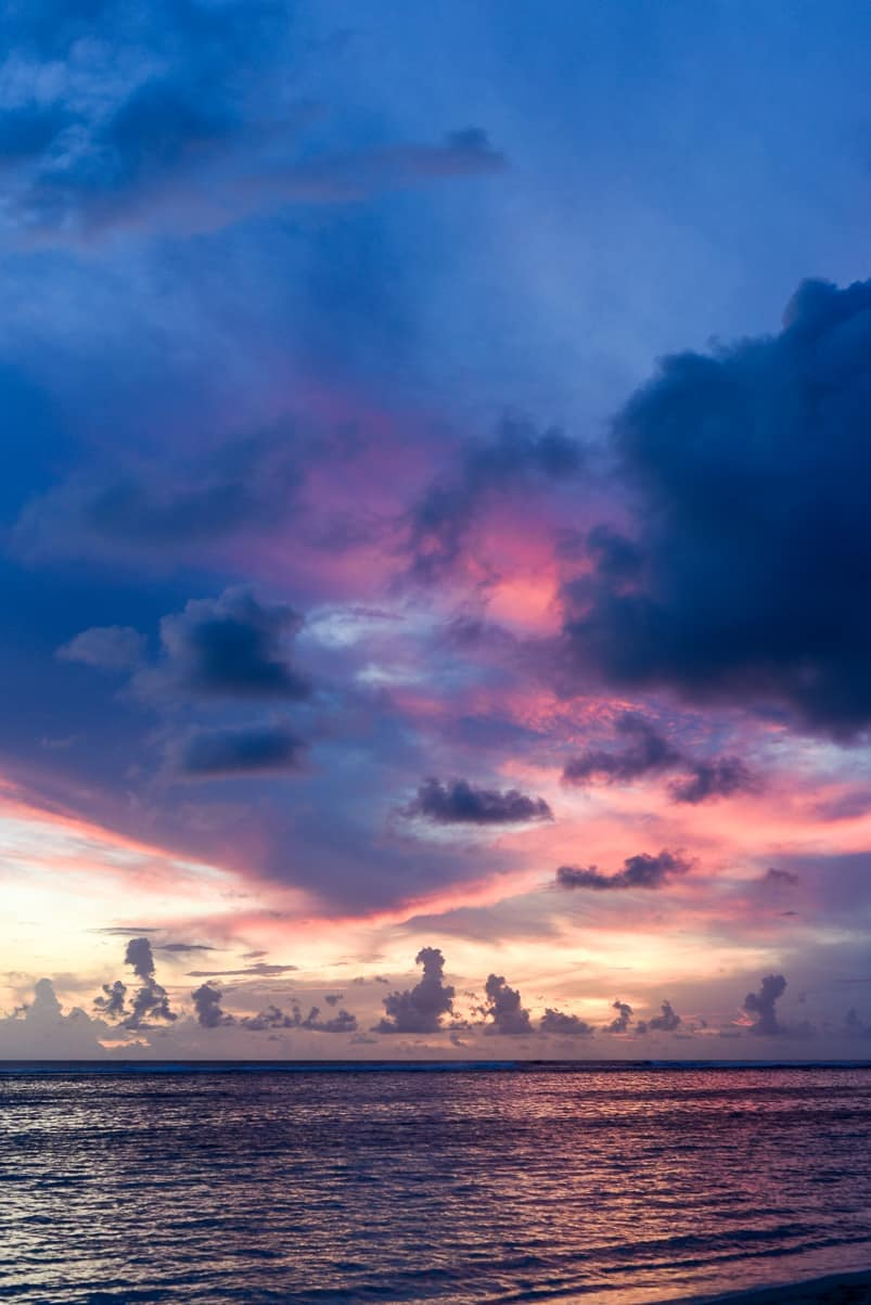 samoa lalomanu sunset