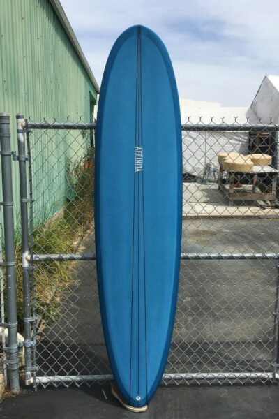surfboard brands blue picone surfboard against fence