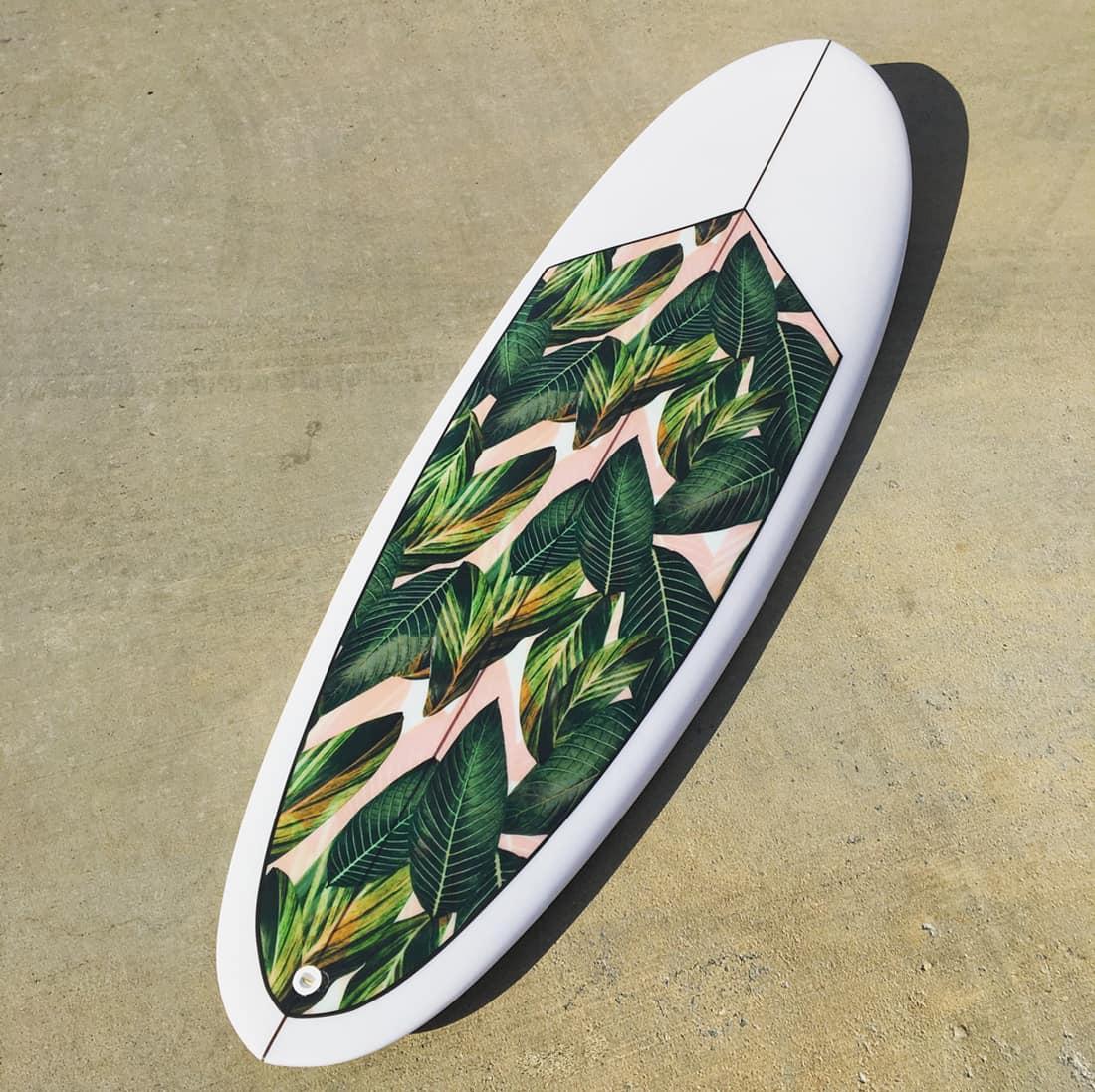 surfboard palm print pierson shapes