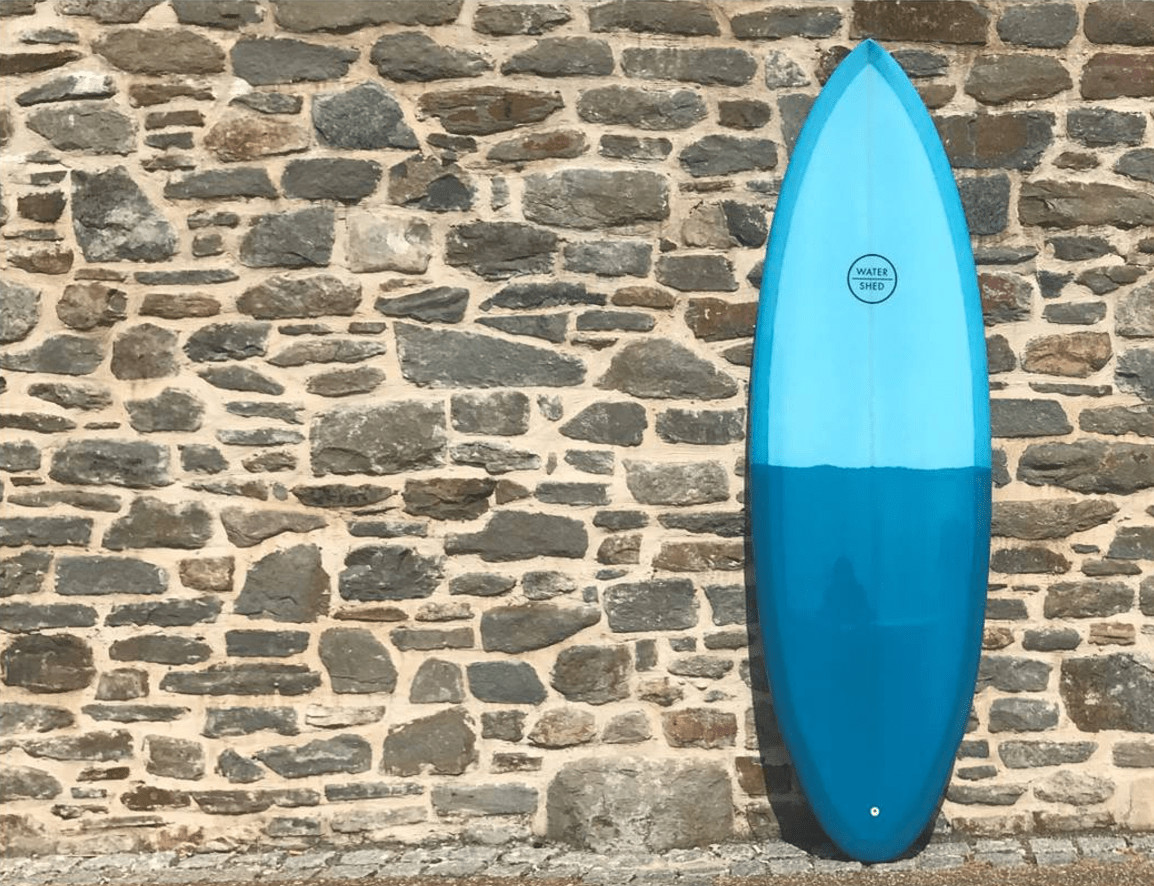 watershed surfboards blue two tone