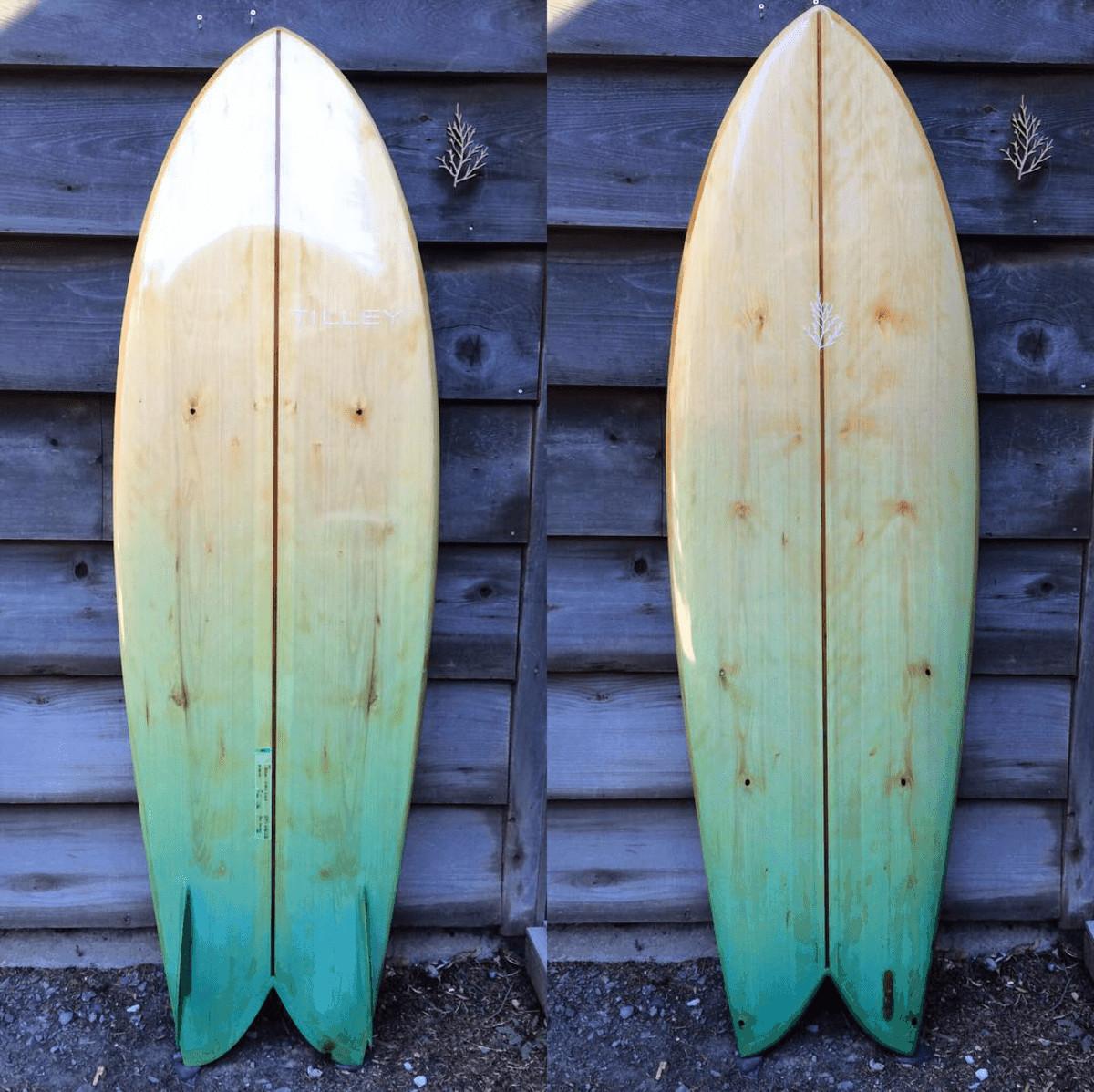 surfboard wood tilly