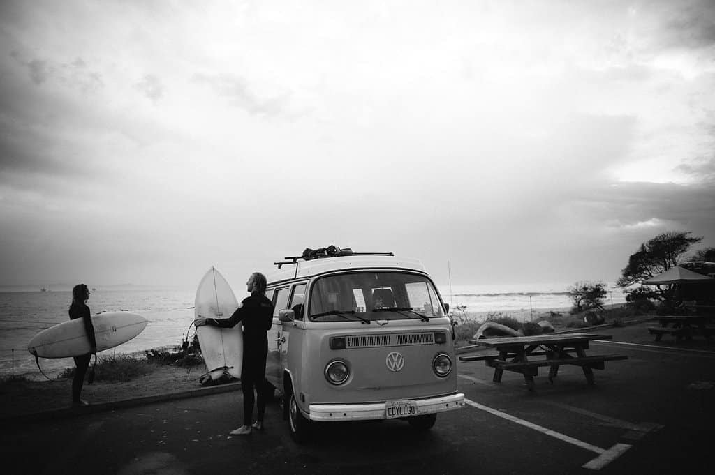 vw bus surf trip