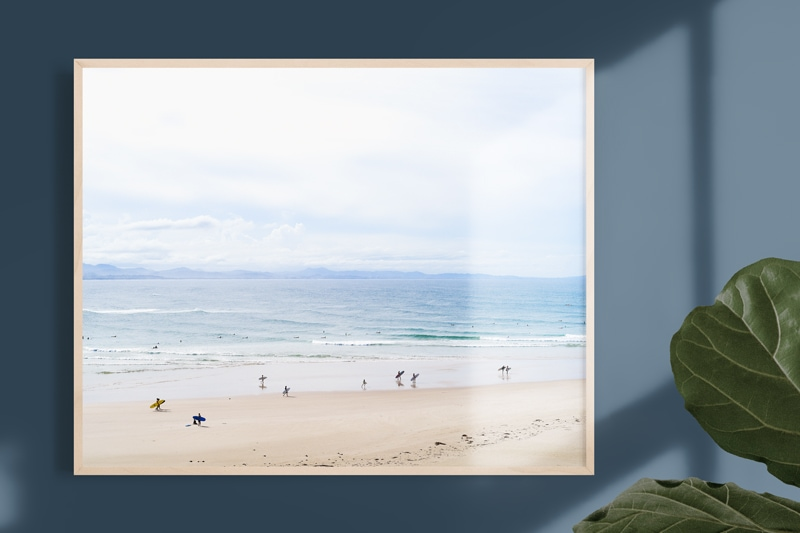 gift for surfers art print '