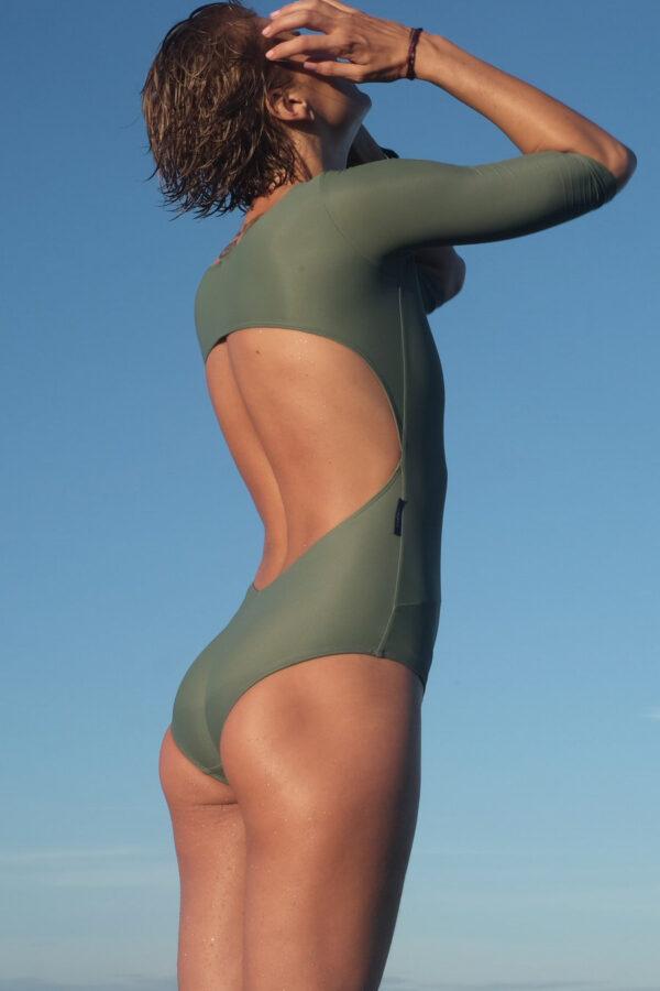 green long sleeve swimsuit