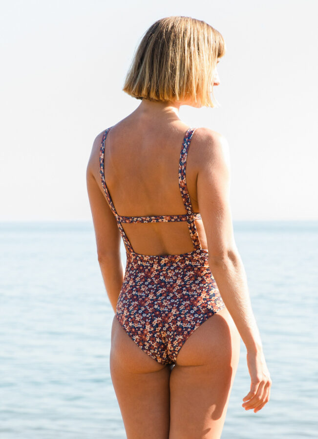 cute surf suit with flower print