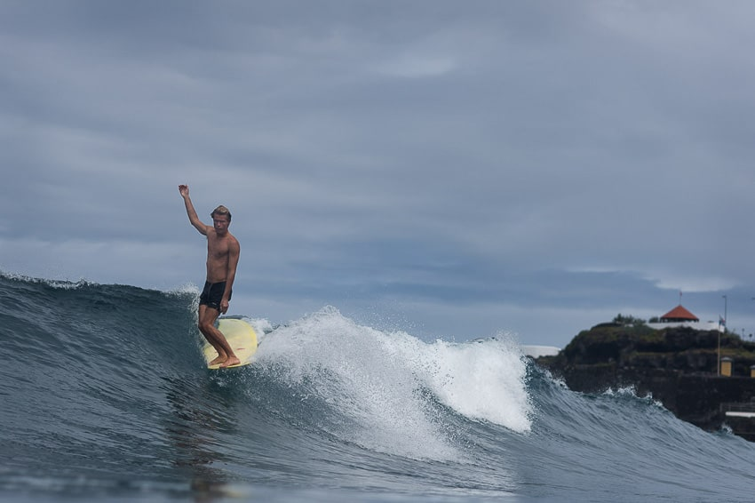 surfing Azores