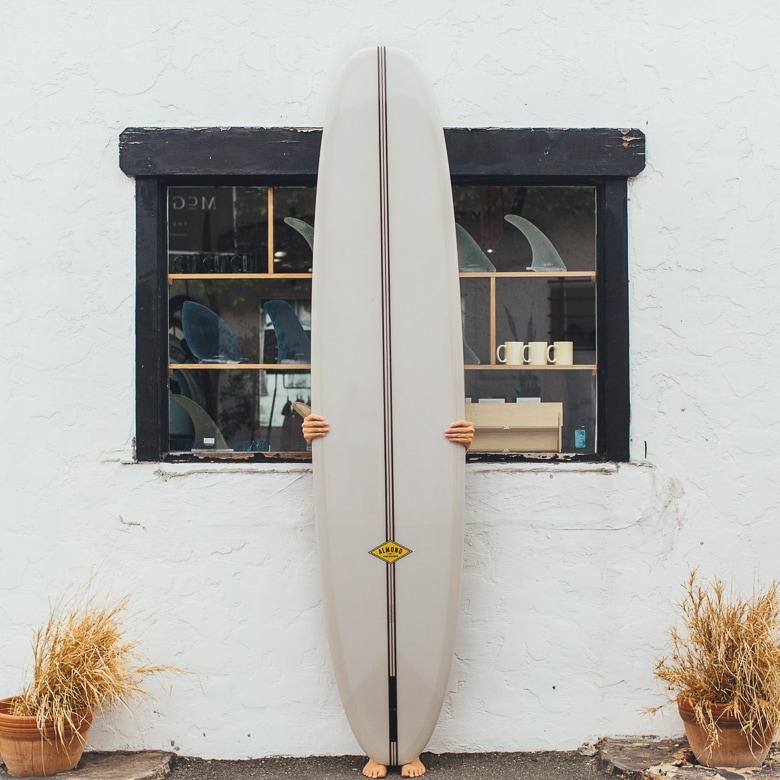 longboard surfboard almond