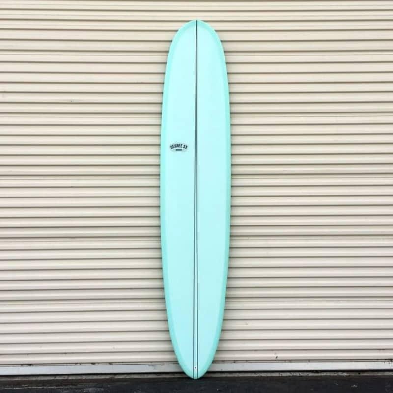 longboard surfboard noserider aqua tint darkwood stringer