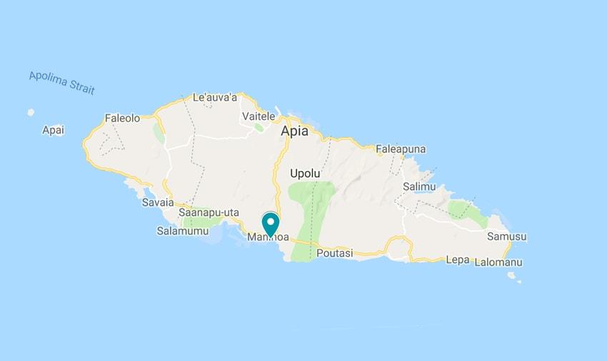 sinalei samoa map
