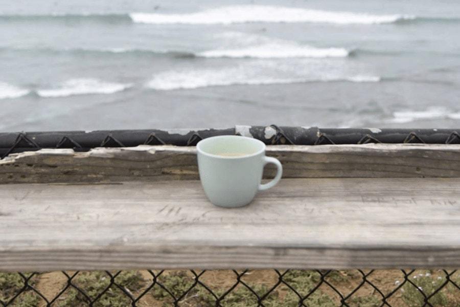 beach camping california san elijo coffee surf check