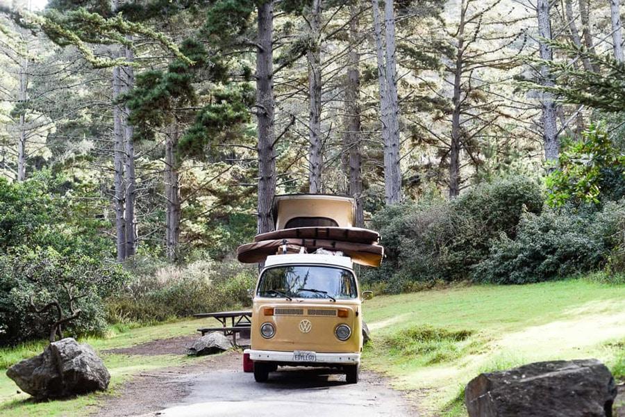 beach camping central california