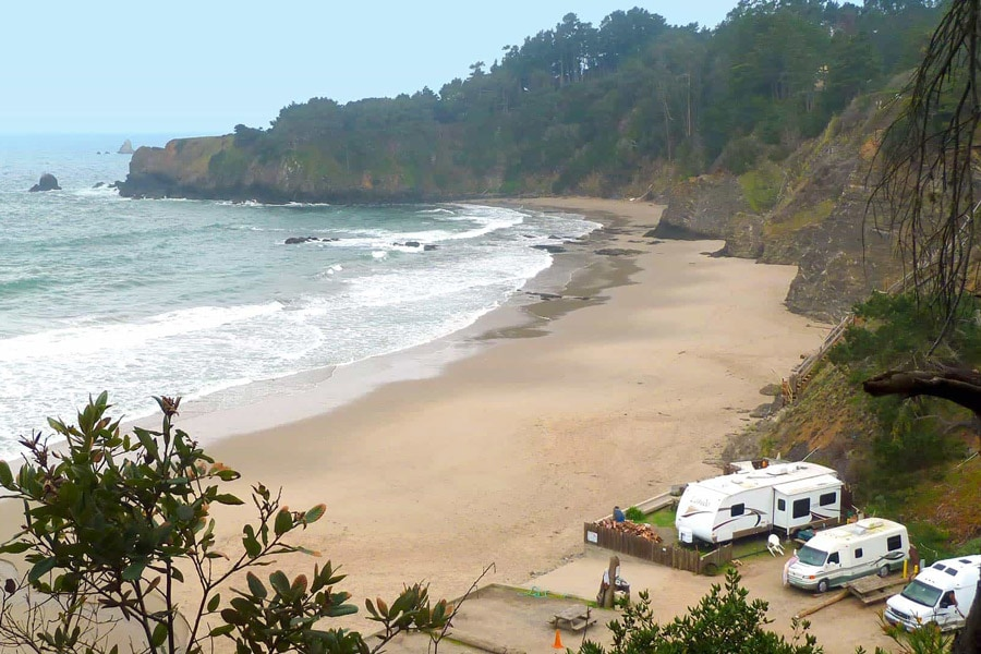 beach camping northern california anchor bay