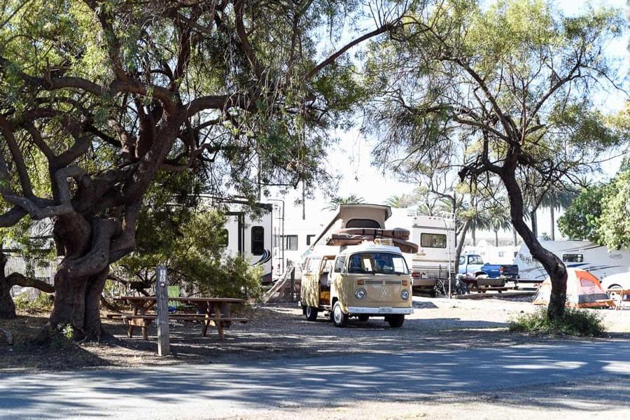beach camping southern california