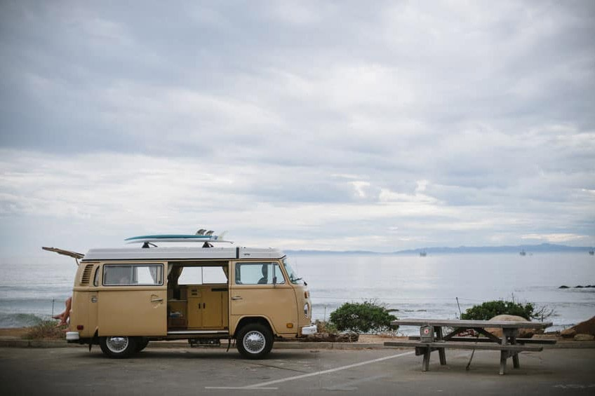 best beach camping in california carpinteria vw