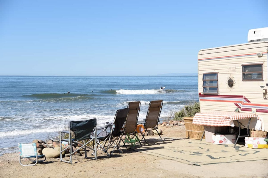 california beach camping emma wood surf