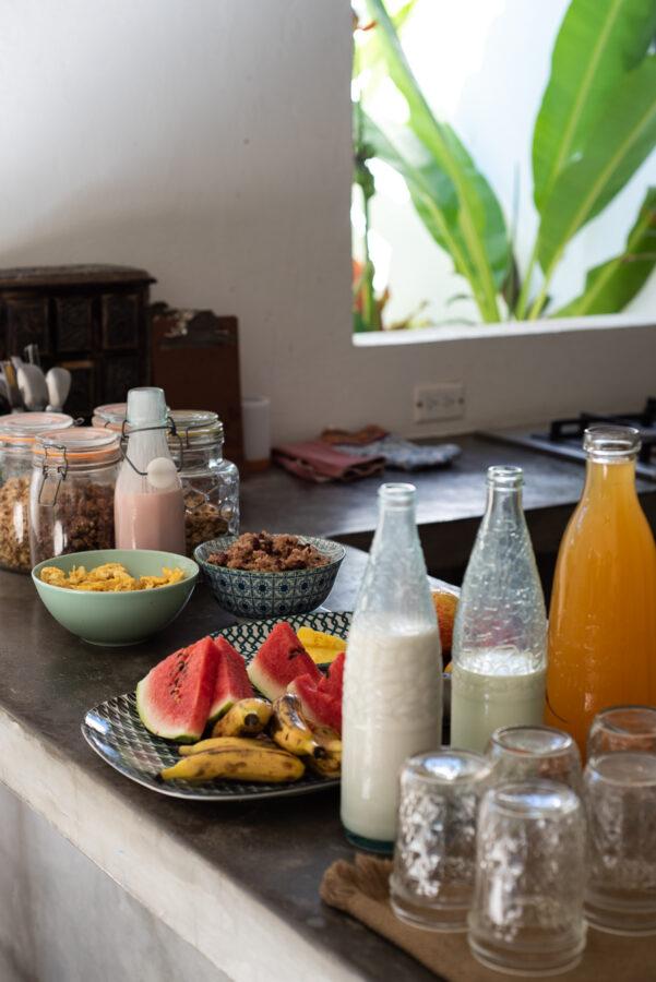 breakfast surf hotel santa teresa lucero