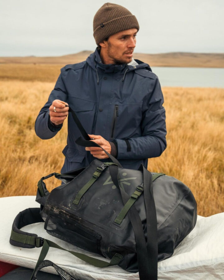 hat, backpack, and jacket by Roark Revival