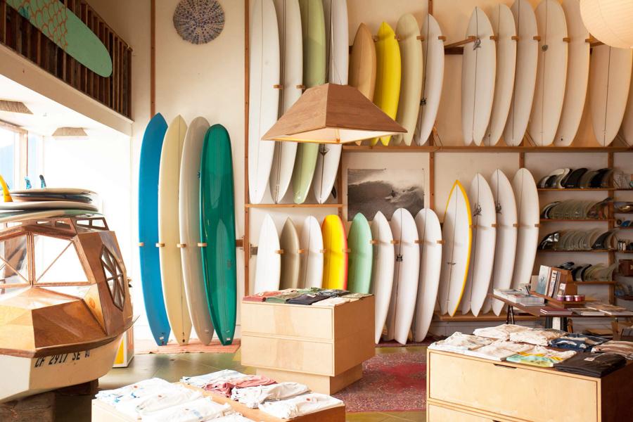 Interior of Mollusk surf shop