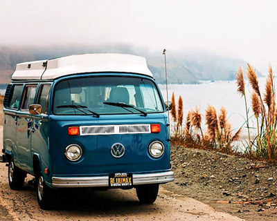 campervan roundup article blue vintage vw bus
