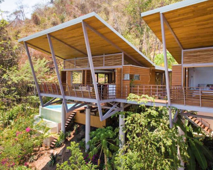 the floating house surf villa