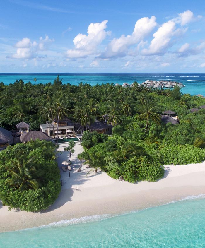 surf resort on lush island paradise