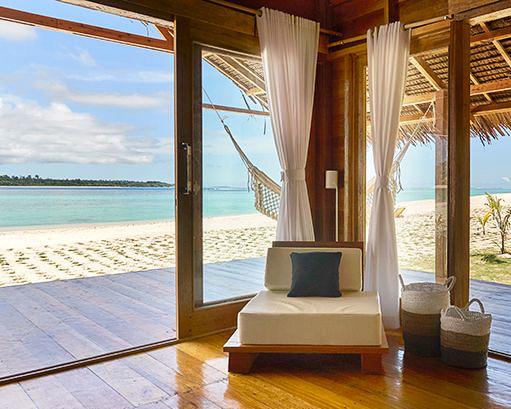 beachfront bungalow at surf resort