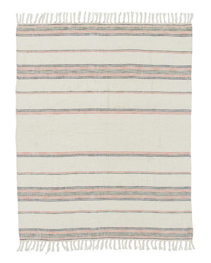 cotton beach blanket with stripes