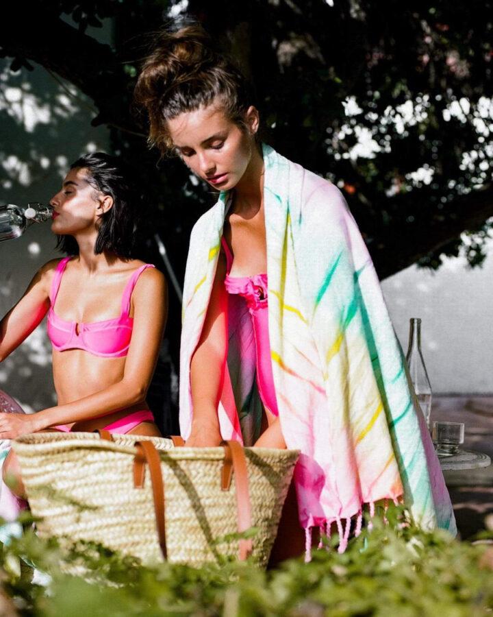 tie dye boho beach towel