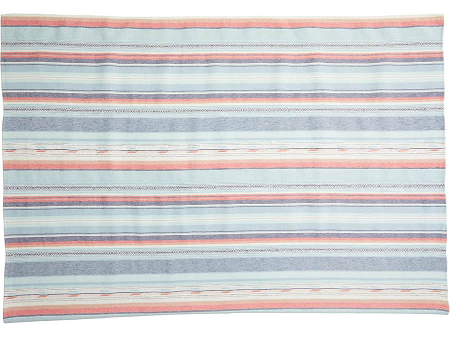 cotton beach blanket with colored stripes by Faherty