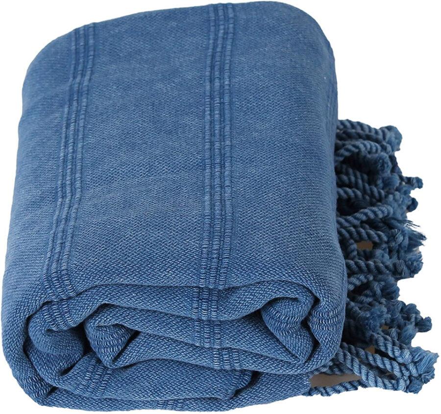 blue large oversized beach towel