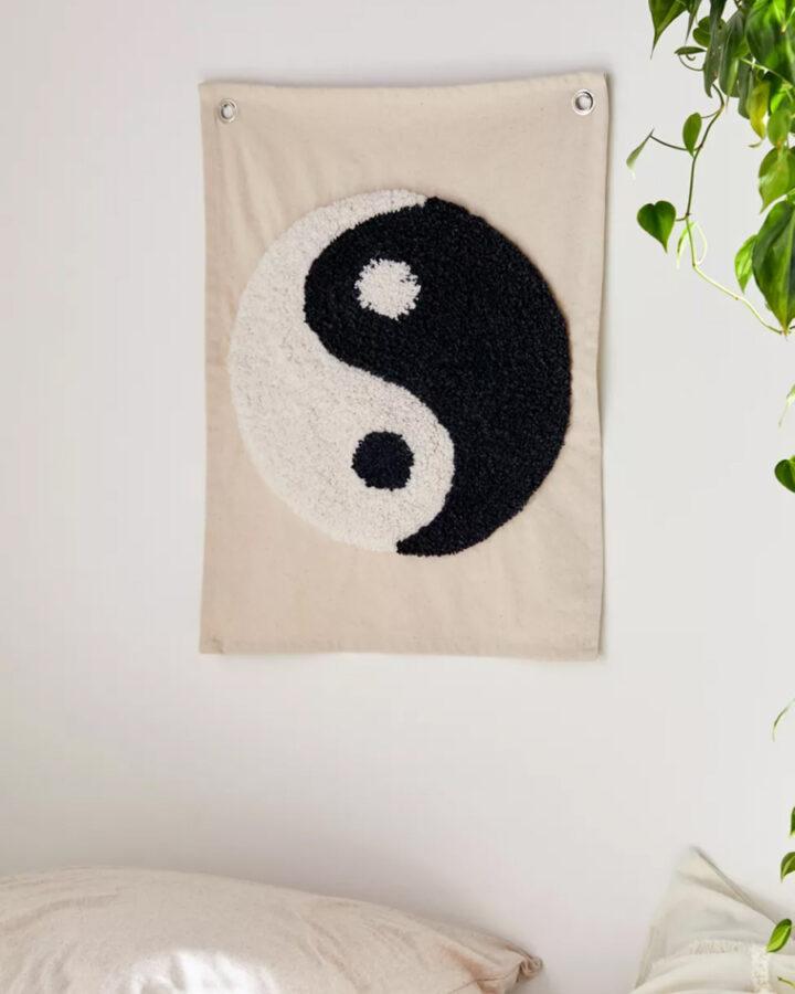 Surf art - yin yang wall hanging