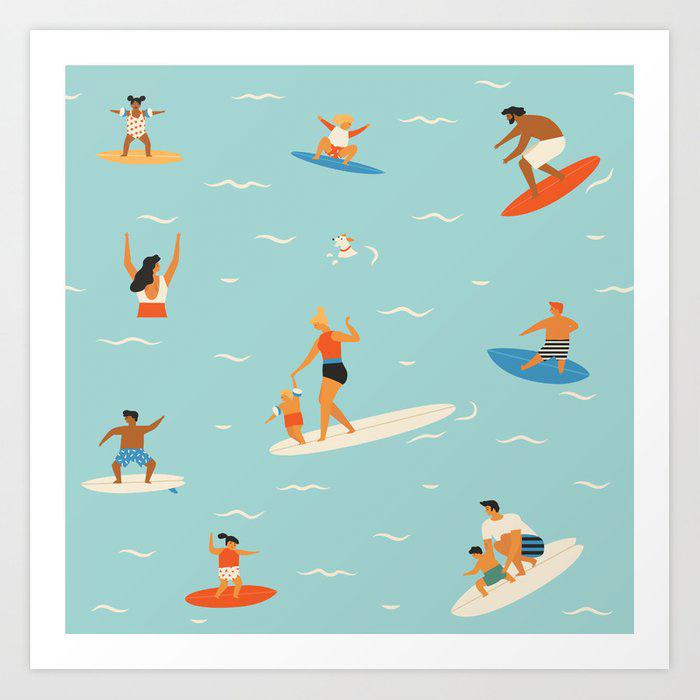Surf Art for kids room