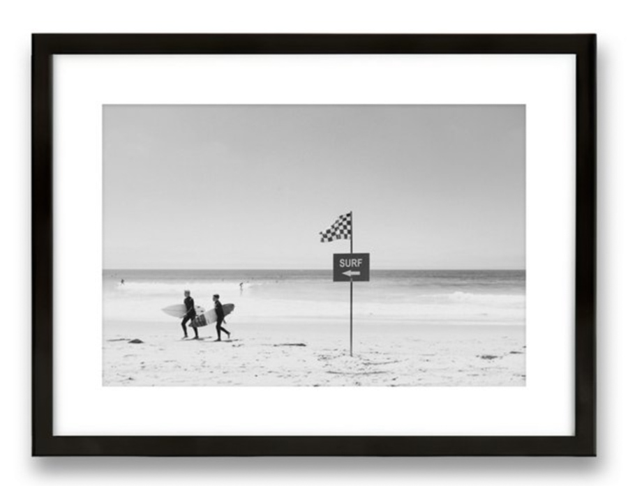 Black and white surf photography print