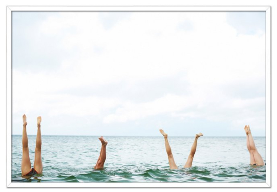 Surf room decor - Photography print of legs sticking up out of the ocean
