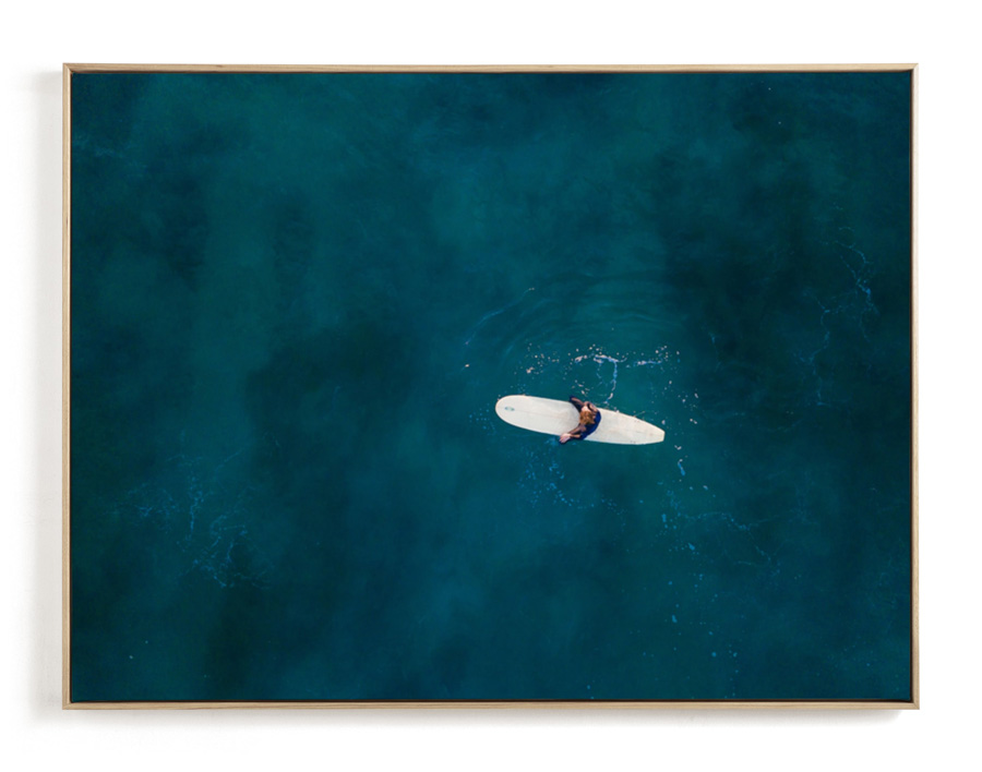 Drone surf photography print