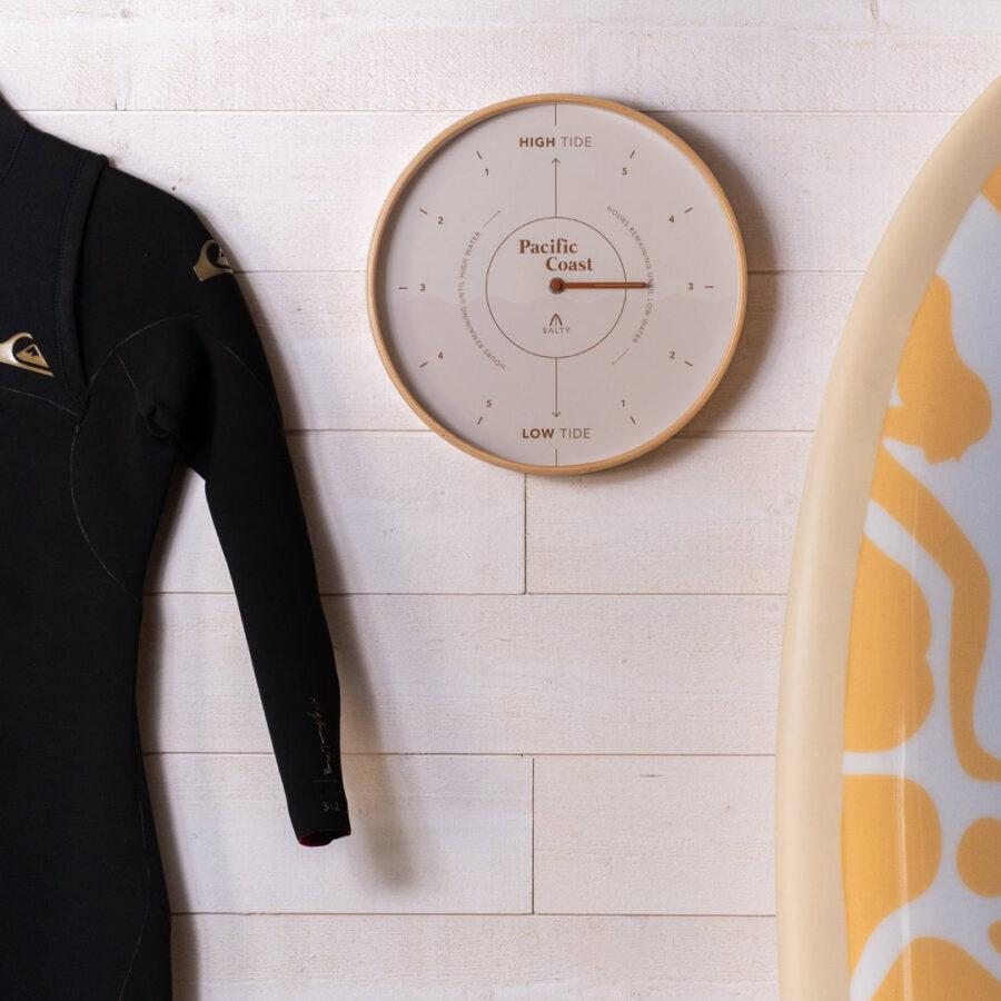Modern Pacific Coast tide clock - surf room decor