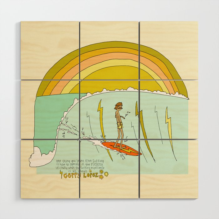 Surfing room kids art with Gerry Lopez