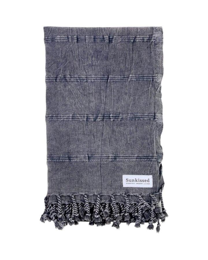 Turkish beach towel in dark gray