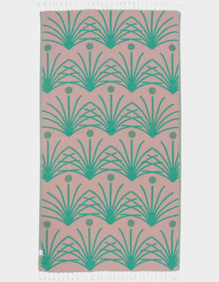 retro palm beach towel