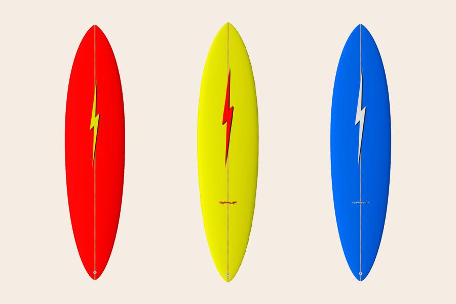 mini gun surfboard by lightning bolt