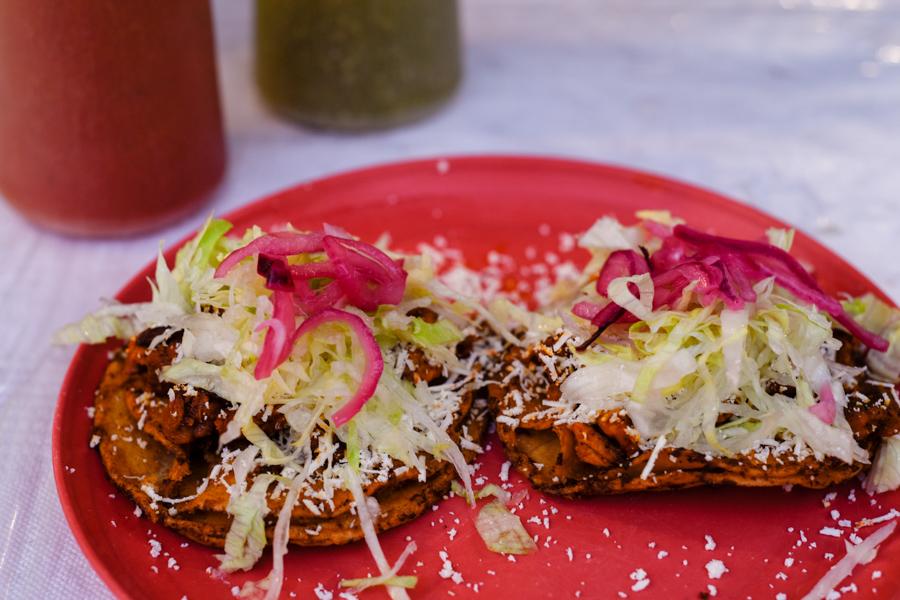 Gorditas from a taco shop in Puerto Escondido