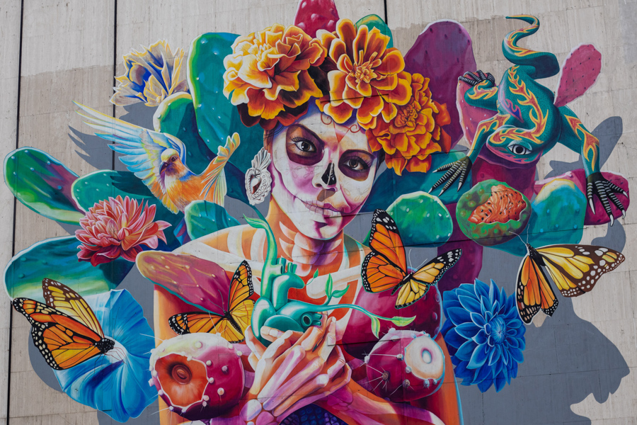 Colorful Mural in Mexico